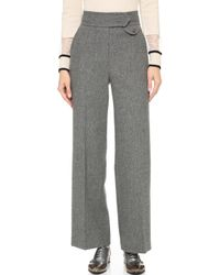 Leur Logette - Wide Trousers With Centre Pleats - Grey - Lyst