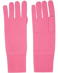 CASH CA - Pink Milled Cashmere Gloves - Lyst