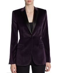 Burberry London Bryston Velvet Tuxedo Jacket - Lyst