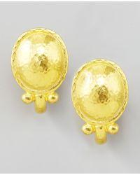 Elizabeth Locke - Sarabella 19k Gold Earrings - Lyst