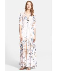 Free People 'After The Storm' Shirtdress white - Lyst
