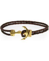 Mateo - Brown Bijoux Anchor Bracelet - Lyst