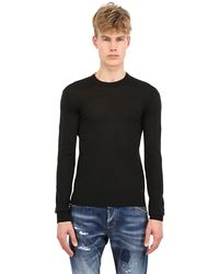DSquared2 Double Layered Wool Sweater - Lyst