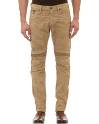 Ralph Lauren Black Label Piston Moto Crusader Jeans - Lyst
