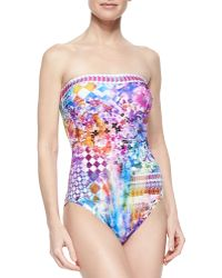 Gottex Impressions Mixed-Print One-Piece Swimsuit - Lyst
