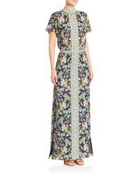 Tory Burch | Printed Silk Dress | Lyst