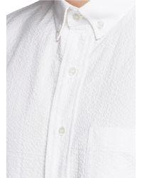 Palm Angels | Logo Print Seersucker Shirt | Lyst