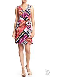 Banana Republic Factory Print Faux Wrap Dress - Lyst