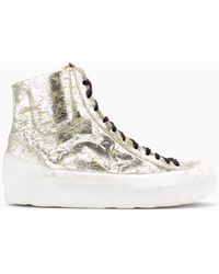 Oxs Rubber Soul Leather Sneakers silver - Lyst