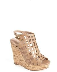 Charles by Charles David 'Affluent' Cage Sandal beige - Lyst