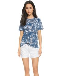 Tory Burch Printed Tee - Baltic Sea Dream Catcher - Lyst