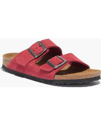 Madewell Birkenstock&Reg; & Arizona Sandals In Barn Red - Lyst