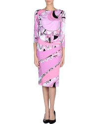 Emilio Pucci Knee-Length Dress - Lyst