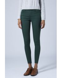 Topshop Womens Moto Teal Leigh Jeans - Teal - Lyst