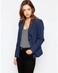 Ganni - Classic Blue Blazer - Lyst
