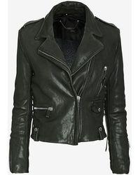 Barbara Bui New Vintage Leather Jacket - Lyst