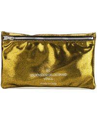 Golden Goose Deluxe Brand 'Corn' Clutch green - Lyst