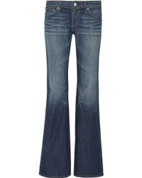 Ag Adriano Goldschmied Belle Mid-rise Flared Jeans - Lyst