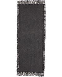 Neiman Marcus | Wool Wrap W/ Rabbit-fur Trim | Lyst
