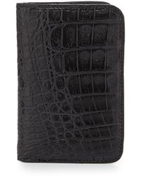 Santiago Gonzalez - Crocodile Fold-Over Card Case - Lyst