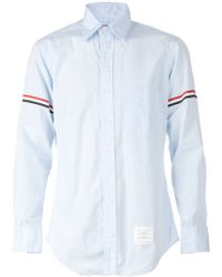 Thom Browne Stripe Sleeve Shirt - Lyst