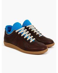 Maison Martin Margiela 22 Mens Brown Neoprene Insert Replica Sneakers - Lyst