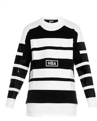 Hood By Air Illusion Lacquered-Stripe Sweatshirt - Lyst