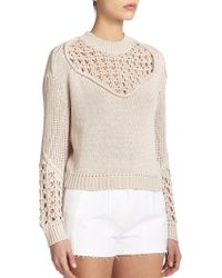 3.1 Phillip Lim Open Knit Sweater - Lyst