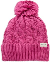 Rella - Pom-pom Accented Knit Hat - Lyst