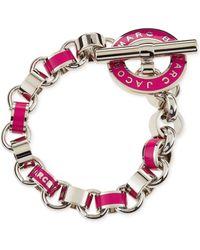 Marc By Marc Jacobs - Enamel Toggle Bracelet Pink - Lyst