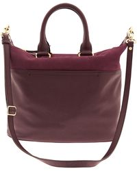 Banana Republic Harper Mixed Media Satchel Burgundy - Lyst