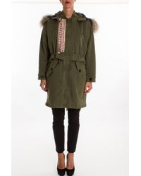 Bazar Deluxe Parka-With-Fur - Lyst