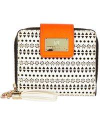 River Island White Laser Cut Square Purse - Lyst