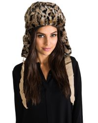 Juicy Couture - Faux Fur Trapper Hat in Brown - Lyst