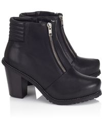 Surface To Air Black Leather Le Baron Boots - Lyst