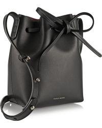 Mansur Gavriel Mini Mini Leather Bucket Bag - Lyst