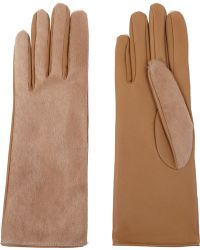 Causse Gantier - Jackie Calf Hair And Leather Gloves - Lyst