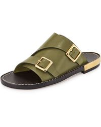 Chloé Doublemonk Slide Sandal - Lyst