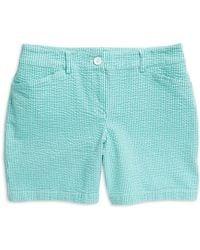 Jones New York - Stripe Print Cotton Shorts - Lyst