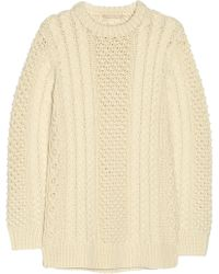 Michael Kors Cable Knit Merino Wool Sweater - Lyst