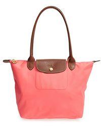Longchamp 'Small Le Pliage' Shoulder Bag - Coral pink - Lyst