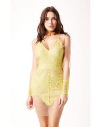 For Love And Lemons Antigua Mini Dress - Lyst