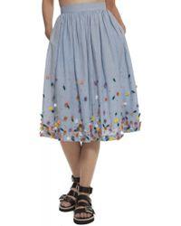 Suno Cinched Waist Skirt - Lyst