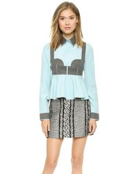Viktor & Rolf Long Sleeve Blouse - Lyst