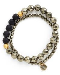 Satya Jewelry | Beaded Stretch Bracelets - Pyrite (set Of 2) | Lyst