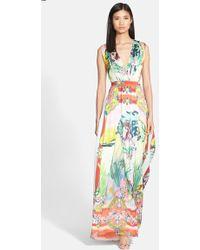 Alice + Olivia 'Triss' Print Silk Maxi Dress - Lyst