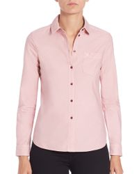 Burberry Brit | Check-lined Blouse | Lyst