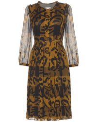 Burberry Brit Elenor Printed Silk Dress - Lyst