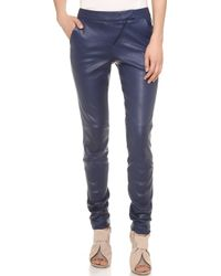 Zero + Maria Cornejo Zero Maria Cornejo Leather Curve Knee Leggings - Lyst