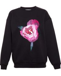 Christopher Kane Rose Embroidered Sweatshirt - Lyst